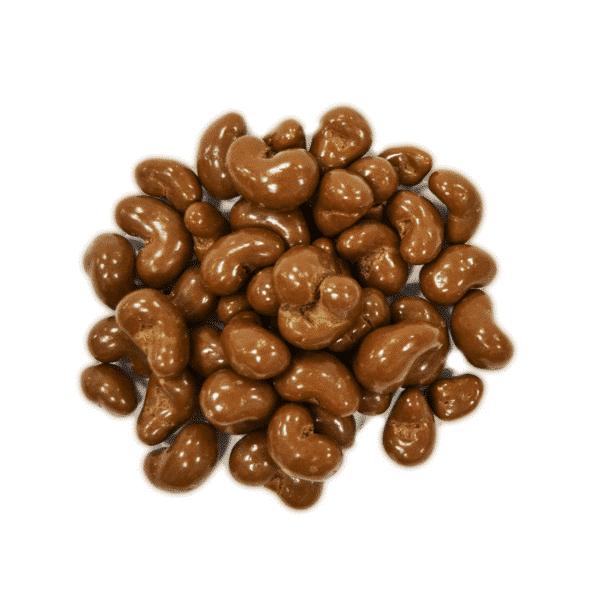 Anacardo chocolate con leche a granel en nuestra tienda online de frutos secos secofrut.com
