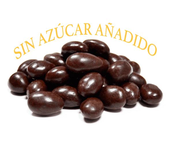 Almendra chocolate negro sin azucar a granel en nuestra tienda online de frutos secos secofrut.com