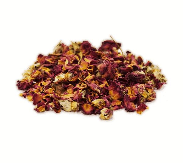 Petalos de rosa a granel en nuestra tienda online de frutos secos secofrut.com