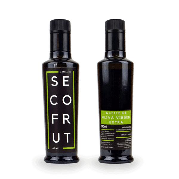 Aceite artesanal oliva virgen extra AOVE en nuestra tienda online de frutos secos y legumbres nacionales a granel al mejor precio secofrut
