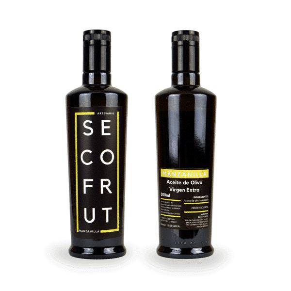 Aceite artesanal manzanilla en nuestra tienda online de frutos secos y legumbres nacionales a granel al mejor precio secofrut